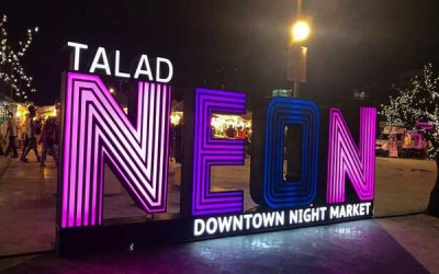 Talad Neon Night Market Downtown
