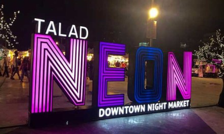 Talad Neon Night Market Downtown