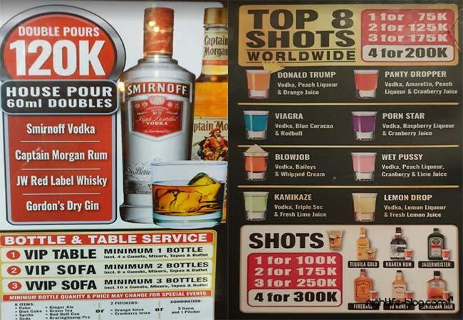 Bali Night Clubs Preise