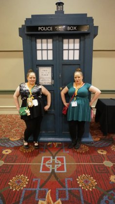 Chantel and me in front of the Tardis!