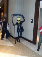 Celty (DRRR) cosplayer.