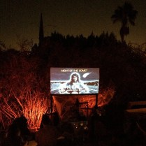Outdoor screening at Godzilla Manor Silverlake © bharrisk