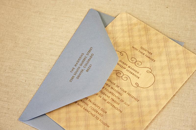 Wedding Sle Pack Night Owl Paper Goods Stationery Wood