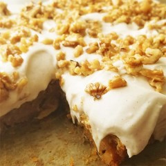 Vegan Maple Walnut Carrot-Cake