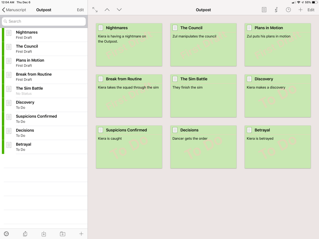 writing with scrivener labels