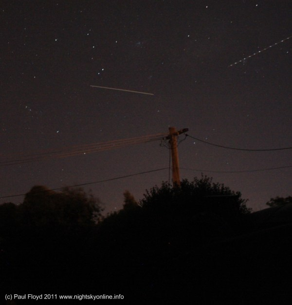 International Space Station pass over Canberra