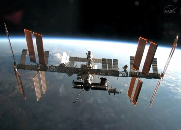 Look up International Space Station visible in morning