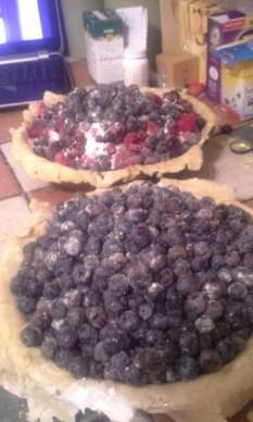 pie bastard and blueberry