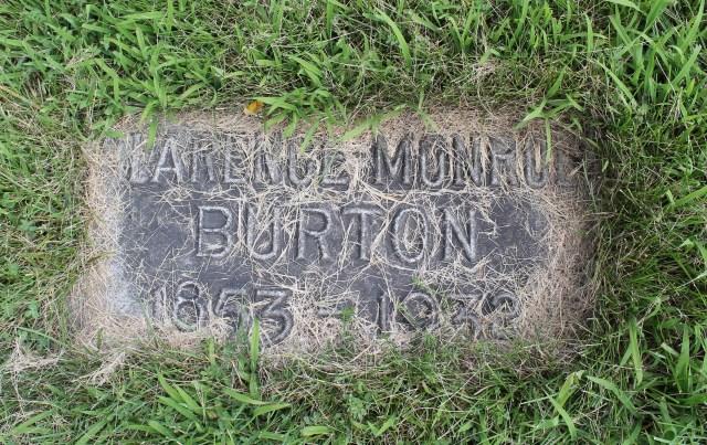 Clarence Burton headstone