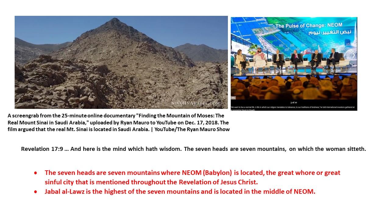 Exodus went into Saudi Arabia, Mt  Sinai is located in Saudi Arabia