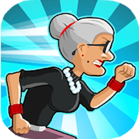 download Angry Gran Run - Running Game Apk Mod unlimited money