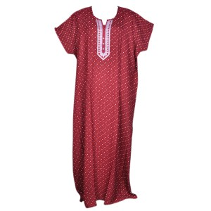 ladies fancy nighty made of pure cotton fabric
