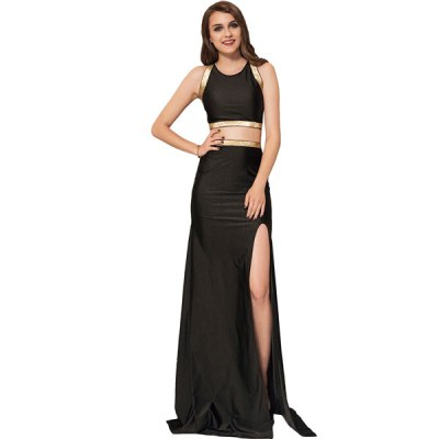 Black Separate Golden Edge Dress