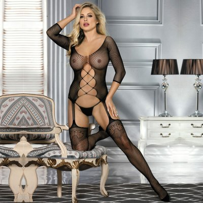 Fishnet Black Bodystocking