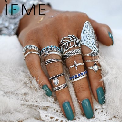 IF ME Vintage Bohemian Ring Set Random