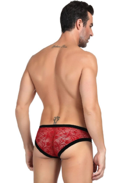 Sexy Red Lace Panty For Men