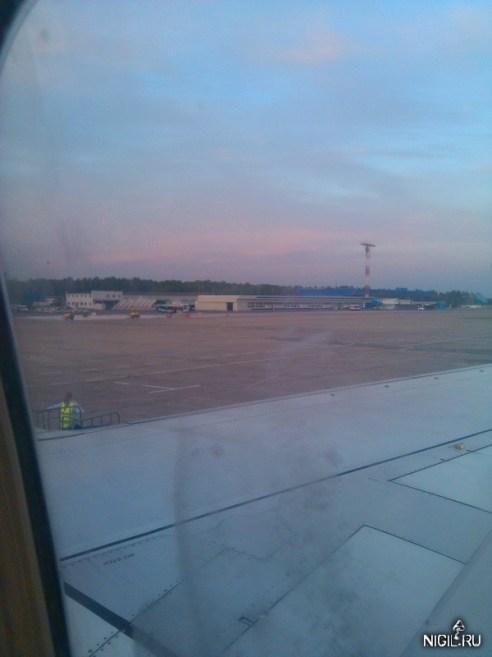 Аэропорт Игарка из иллюминатора самолёта