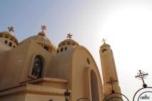 Коптский храм снаружи
