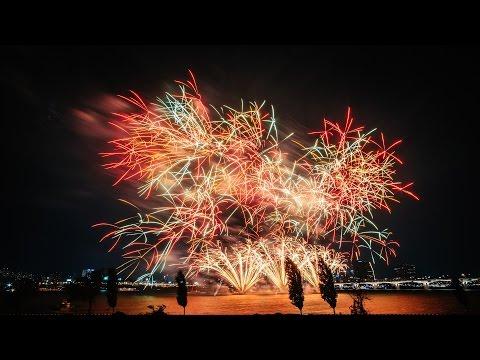 Фестиваль фейерверков в Корее 2016. Видео