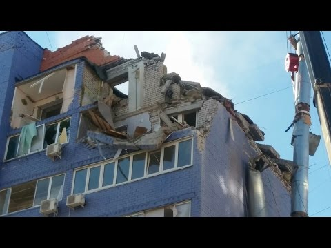 Подборка видео от очевидцев с места взрыва дома в Рязани 23 октября 2016
