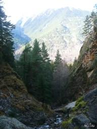 Вид от водопада вниз