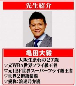亀田 大毅プロフィール