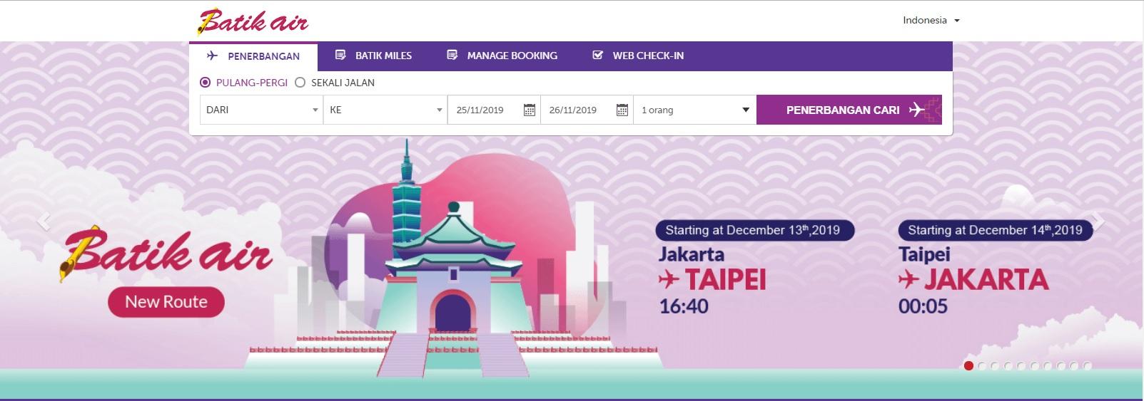 Rute Langsung Taiwan Indonesia Kini Bertambah Dengan Penerbangan Perdana Batik Air Nihao Indonesia