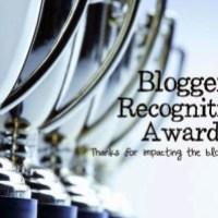 Blogger Recognition Award!!