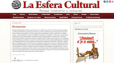 -'Mis únicos vicios', relato publicado en La Esfera Cultural-
