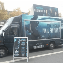 Final Fantasy XV Food Truck serviert Burger auf der Paris Games Week!