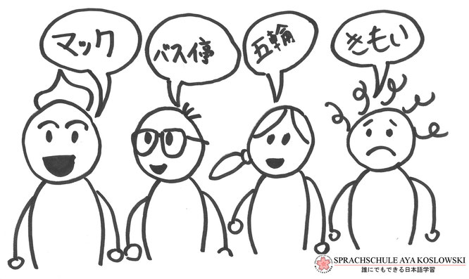 Die japanische Sprache Teil 1.