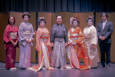 """Performers at """"An Afternoon of Japanese Dance: Performance with Lecture/Demonstration October 19, 2019"""