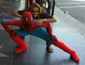 "Spiderman and my good friend ""V"""