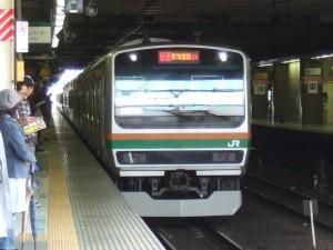 快速アクティーとなる列車。大宮駅にて