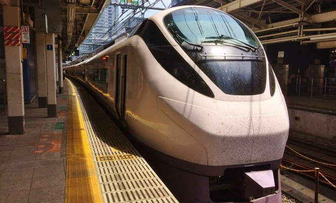 特急ときわ号・東京駅にて
