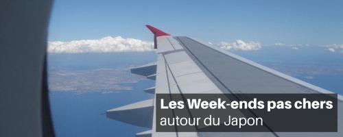 les week-ends pas chers autour du Japon