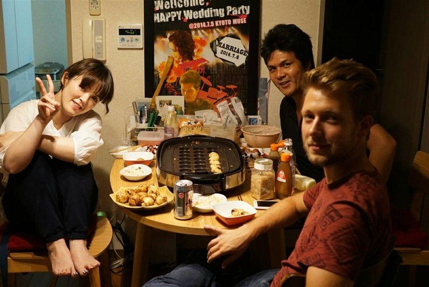 Takoyaki party chez mes hôtes
