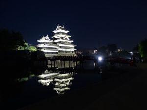 Le château de Matsumoto la nuit