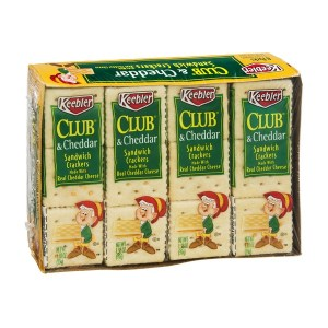 Keebler cheddar cheese club sandwich crackers snacks
