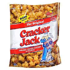 cracker jack caramel popcorn sugary sweet American snack