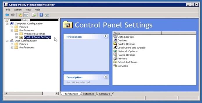 Figure 8: GPP Control Panel settings