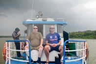 Panaromic view from the house boat