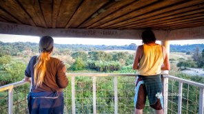 At the observation tower in Sundarbans