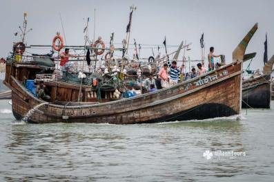 Fishing boats at Cox's Bazar