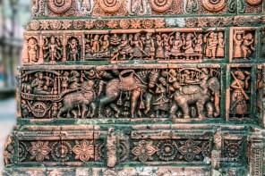 Terracotta work at Kantajew Temple