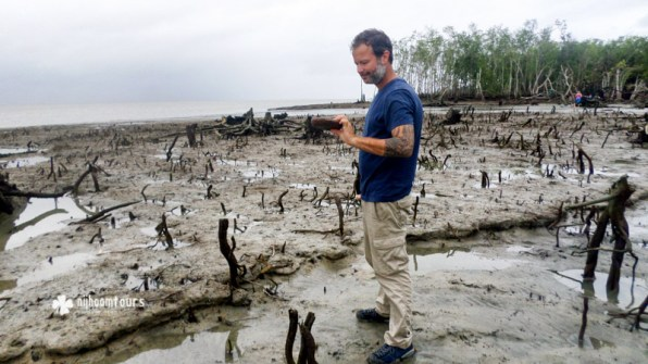 Samuel Gomberg from USA visiting Sundarbans with Nijhoom Tours