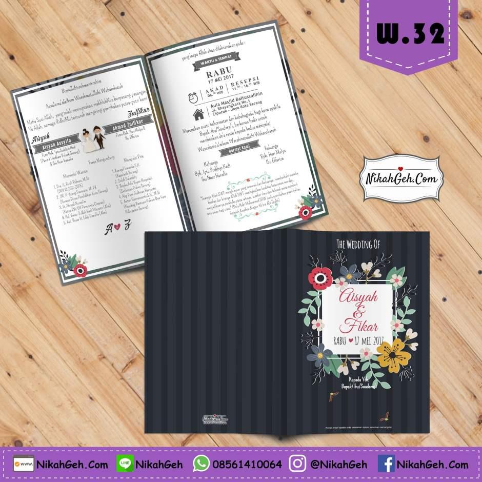 W.32 Undangan Pernikahan Lucu
