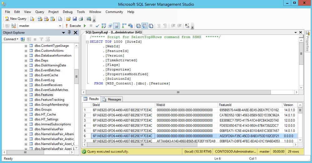 SQLFeatureTable