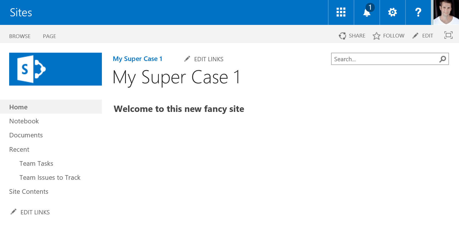Create new site from custom web template in office 365 for Design my office online