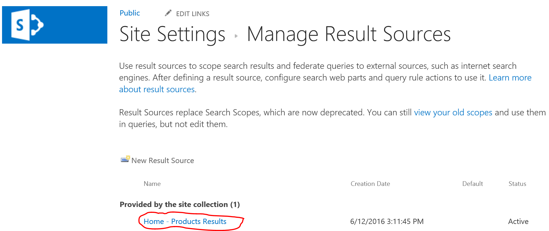 can t create a sharepoint publishing catalog connection crawl